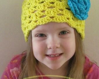 Rae of Sunshine Cloche Crochet Hat Pattern PDF 109