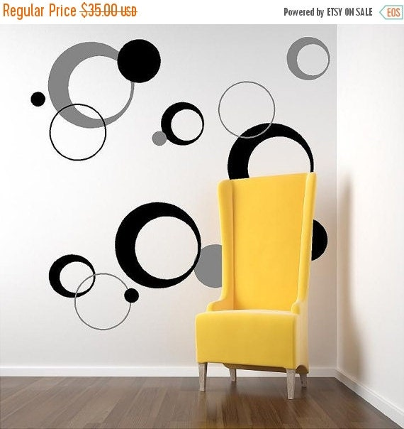 15 off funky circles vinyl lettering decal by