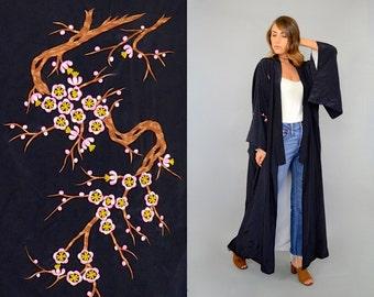 60's Cherry Blossom EMBROIDERED Kimono