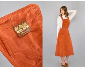 ANNIVERSARY SALE RARE •  60's Suede Jumper Dress