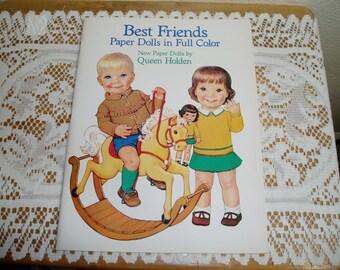 Best Friends Paper Dolls by Queen Holden