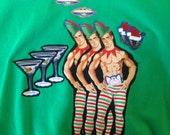 Three Little Elves Ugly Christmas Sweatshirt