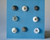 Vintage Rhinestone Buttons in Assorted Designs for Sewing and Crafting