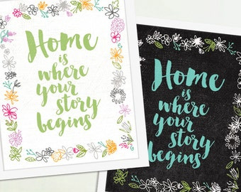 Home is Where Your Story Begins,  Family Art, Family Poster