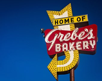 Grebe's Bakery Neon Sign Print | Milwaukee Wall Art