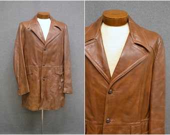 1970s Reed Brown Leather Coat