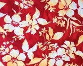 Lycra Fabric Hawaiian Hibiscus Floral Print Lycra Swimwear Fabric Dance Wear Sportswear Crafts Sewing