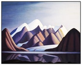 Lawren Harris's Mt Thule Bylot Island Ontario Canada Landscape Counted Cross Stitch Pattern