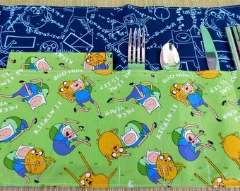 Adventure Time Zero Waste Roll Up Placemat Set with Napkins