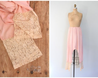 1920s tissue silk harem bloomers - drop crotch pajama bottoms / long leg lounge pants / 20s flapper lingerie - ecru lace hem