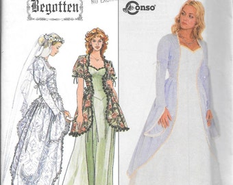 Simplicity 8623 Ladies Begotten Wedding Medieval Dress Gown Pattern Size 12, 14 and 16