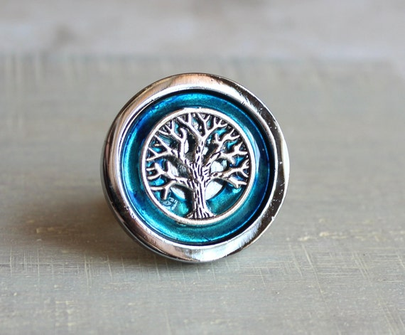 sky blue drawer pull, cabinet knob, cabinet pull, drawer handle, dresser knob, dresser pull, tree of life, drawer knob, cabinet decor