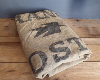 Old reclaimed large french postal bag