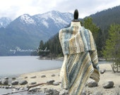 Beautiful Handmade Ladies Shawl - Sand and Sea Wrap