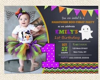 Halloween Birthday Invitations, Halloween Invitations, Costume Party Invitations, Fall Birthday Invitations