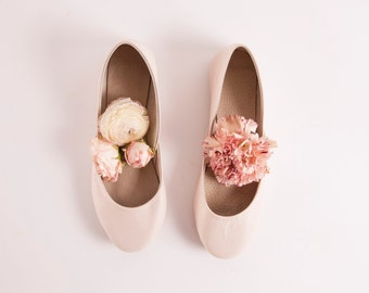 The Bridal Ballet Flats in Almond Blossom | Wedding Shoes in Light Blush | Almond Blossom | Made to Order