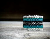 Winter is Coming // Ombre Glass Seed Ring