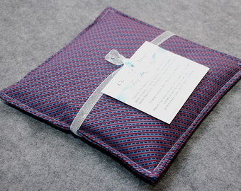 Corn Heating Pad, Corn Bag, Microwavable Heat Pack, Hot Cold Therapy Pillow, Spa Gift for Him -- Small 9x9 -- Diagonal Dash
