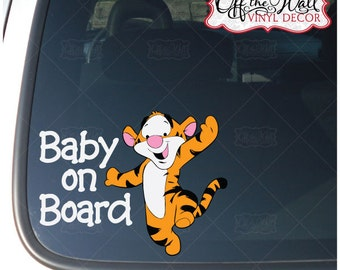 "Baby Tigger ""BABY ON BOARD"" Car Decal #TG2"