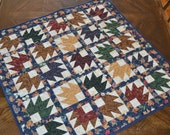 Quilted Table Runner, Canadian Maple Leaf Table Centerpiece, Country Home Decor