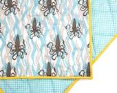 SQUID - QUICK Ship Item - Baby Boy Blanket - Colorful Toddler Comforter - Baby Crib blanket - Baby Boy Bedding - Modern Crib Bedding