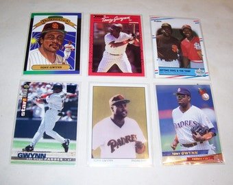 Vintage Lot of 6 Tony Gwynn Baseball Cards