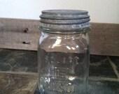 Vintage Square  Mason Jar Pint Size