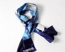 SALE Christian Dior scarf, vintage faux silk scarf tie