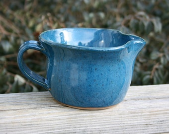 Pottery Batter Bowl Aqua Glaze NC Pottery
