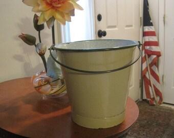 Vintage Enamelware Milk Pail