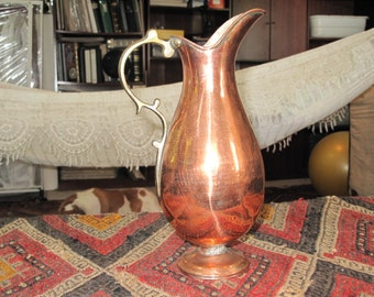 Copper Water Pitcher or Vase from Turkey