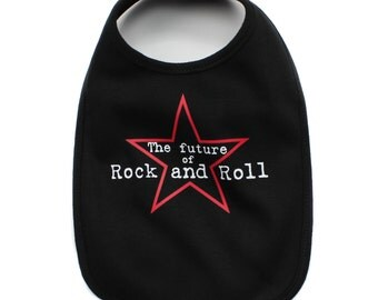 The Future of Rock and Roll Infant Baby Soft 100% Cotton Bibs