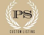 Custom Listing: Dominique