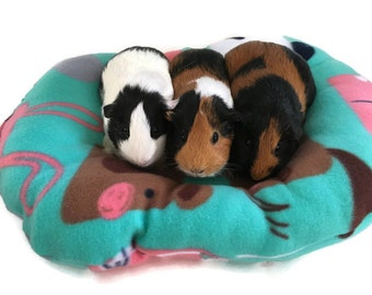 Furry Friends guinea pig pillow bed, Guinea pig bed, small pet bed