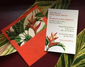 35 Retro 1950's Tropical Wedding invitation Florida Especially for AMANDA Balance