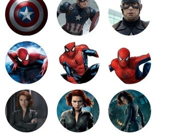Marvel Inspired 1 Inch Round Stickers