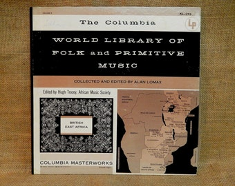 World Library of Folk and Primitive Music - Bantu Music from British East Africa - Vintage Vinyl Record Album