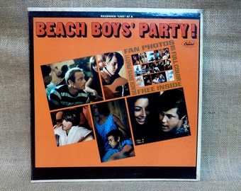 The BEACH BOYS -The Beach Boys' Party! - 1965 Vintage Vinyl Record Gatefold Album...Recorded Live at at a Beach  Boys  Partylive