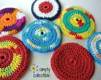 Crochet Pattern toy Soft Flyers Flying Discs Dog Toy or Indoor Disc Golf - p165 - pdf Photo Tutorial