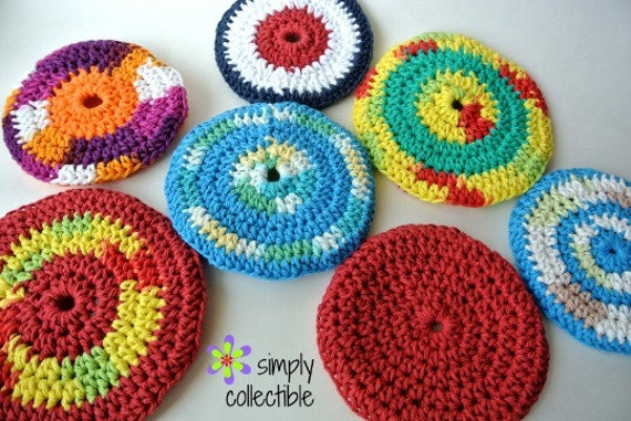 Crochet Pattern Soft Flyers Flying Discs Dog Toy or Indoor Disc Golf - p165 - pdf Photo Tutorial