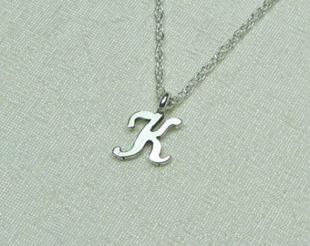 Dainty Initial Necklace Sterling Silver Monogram Necklace Personalized Necklace Bridesmaid Jewelry Bridesmaid Gift Letter Initial Jewelry