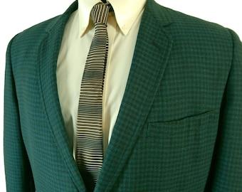 1960s Botany 500 Check Sport Coat – Narrow Lapels-- Size 44