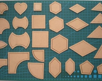 54pcs mixed quilt templates acrylic diy tools for patchwork  - Quilting - Fabric