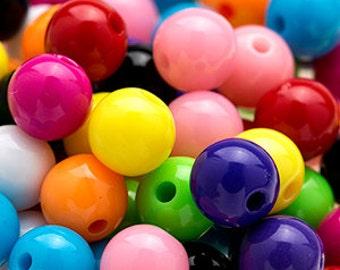 150 GUMBALL Beads 8mm Bubblegum Resin Round