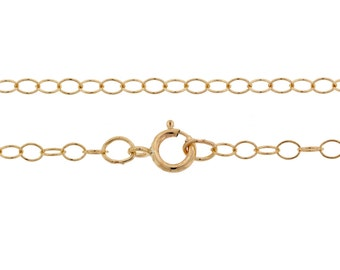 """14Kt Gold Filled 2.1mm 16"""" Cable Chain   - 1pc Made in USA 10% discounted lowest price (5552)/1"""