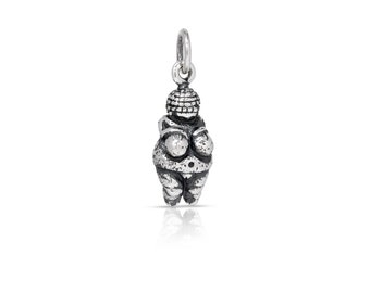 Sterling Silver Venus of Willendorf Charm 20x6.5mm - 1pc (7694)/1