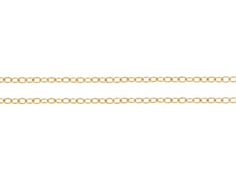 14Kt Gold Filled 1x1.5mm Cable Chain - 100ft Jewelry Chain Bulk Quantity Discounted Price (3028-100)/1