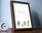 Funny animals print | Birthday welcome sign | shower decoration | Gender Neutral | INSTANT DOWNLOAD