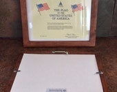 Military Shadowbox Matching Wood Photo/Certificate Frame