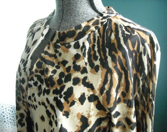 Leopard Robe Housecoat Lisanne Distinctive Loungewear Small